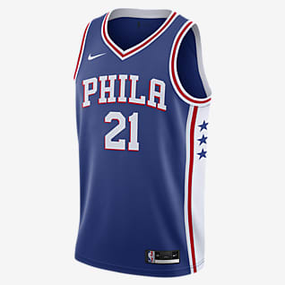 2020 赛季费城 76 人队 (Joel Embiid) Icon Edition Nike NBA Swingman Jersey 男子球衣