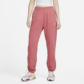 Nike Sportswear Essential Collection Calças de lã cardada para mulher