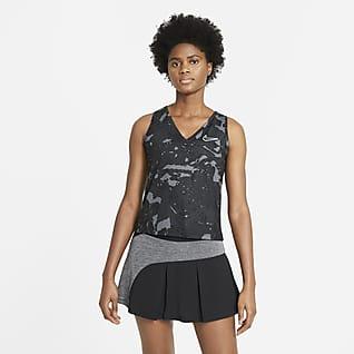 NikeCourt Victory Camisola de ténis sem mangas estampada para mulher