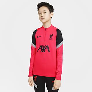 Liverpool FC Strike Camiseta de entrenamiento de fútbol para niños talla grande