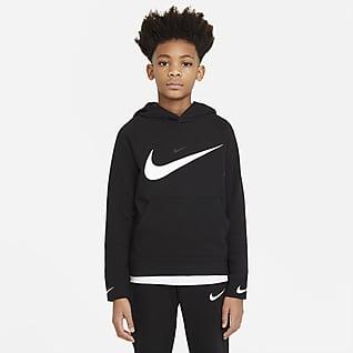 Nike Sportswear Swoosh Felpa pullover con cappuccio - Ragazzo