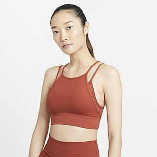 Nike Yoga Indy Novelty สปอร์ตบราผู้หญิงซัพพอร์ตระดับต่ำ