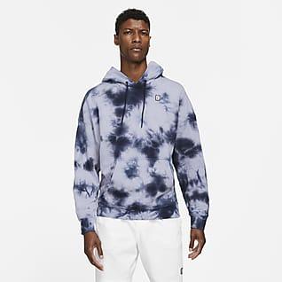 NikeCourt Hoodie de ténis em lã cardada com estampado tie-dye para homem