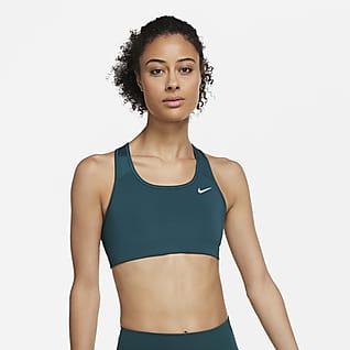 Nike Dri-FIT Swoosh Bra deportivo sin almohadilla de media sujeción para mujer