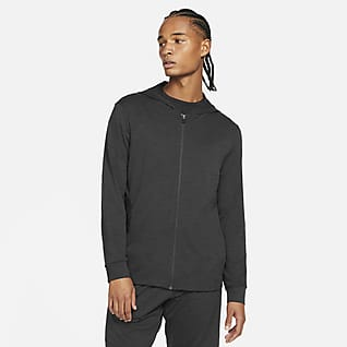 Nike Yoga Dri-FIT Tam Boy Fermuarlı Erkek Ceketi