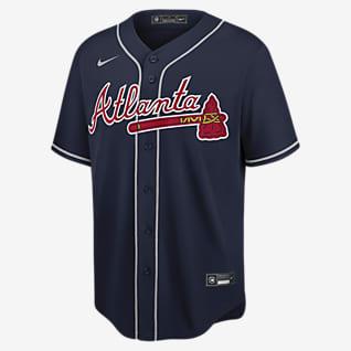MLB Atlanta Braves (Dansby Swanson) Men's Replica Baseball Jersey