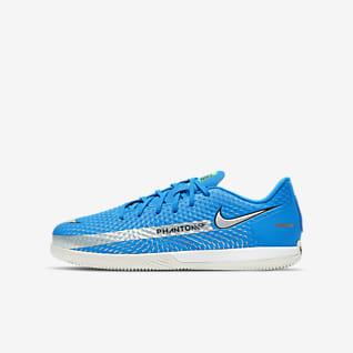 Nike Jr. Phantom GT Academy IC Little/Big Kids' Indoor/Court Soccer Shoes