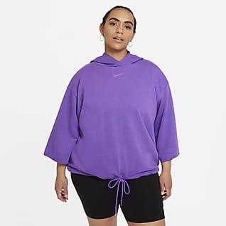 Nike Sportswear Icon Clash Women's Short-Sleeve Hoodie (Plus Size)
