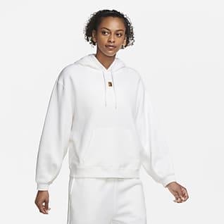 NikeCourt Tennishuvtröja i fleece för kvinnor