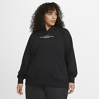Nike Sportswear Swoosh Sudadera con capucha para mujer (talla grande)