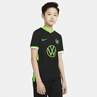 VfL Wolfsburg de visitante Stadium 2020/21 Camiseta de fútbol para niños talla grande