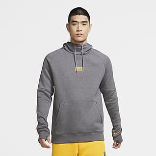 F.C. Barcelona Men's Fleece Pullover Football Hoodie