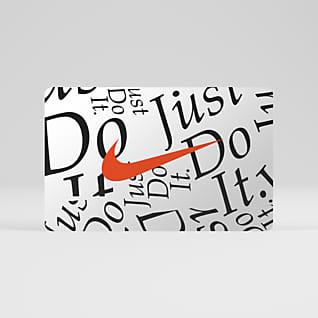 Tarjeta de regalo digital Nike Se envía por correo electrónico en 2 horas o menos