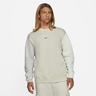Nike Sportswear Fleecetröja med rund hals och Swoosh för män