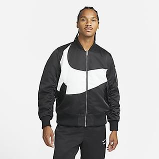 Nike Sportswear Swoosh Therma-FIT Chamarra bomber con relleno sintético para hombre