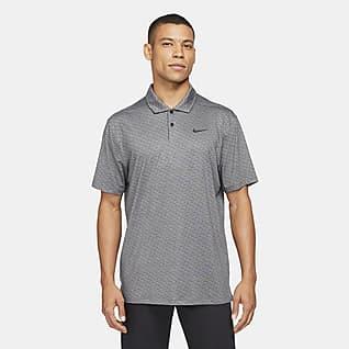 Nike Dri-FIT Vapor Csíkos, galléros férfi golfpóló