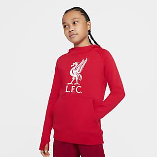 Liverpool FC Sudadera con capucha sin cierre de tejido Fleece para niños talla grande