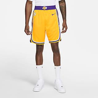 Los Angeles Lakers Icon Edition Nike NBA Swingman-shorts för män