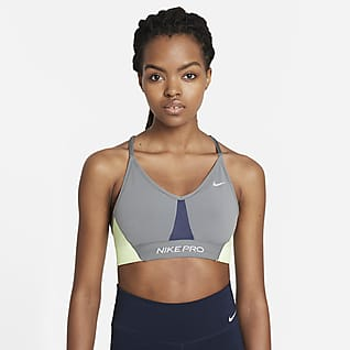Nike Pro Dri-FIT Indy Women's Light-Support Padded Color-Block Sports Bra