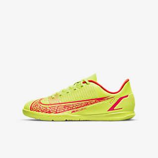 Nike Mercurial Vapor 14 Club IC Calzado de fútbol para canchas de pasto y cubierta para niños talla pequeña/grande