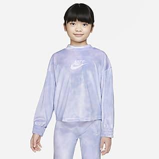 Nike Sudadera con velour para niños talla pequeña