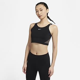 Nike Pro Dri-FIT เสื้อกล้ามเอวลอยมีบราบังทรงผู้หญิง