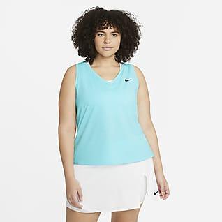 NikeCourt Victory Damska koszulka bez rękawów do tenisa (duże rozmiary)