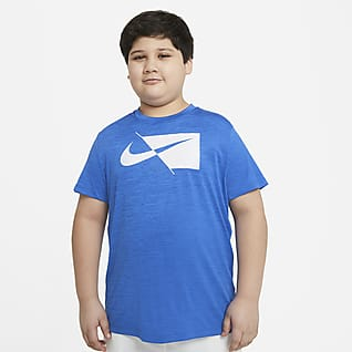 Nike Big Kids' (Boys') Short-Sleeve Training Top (Extended Size)