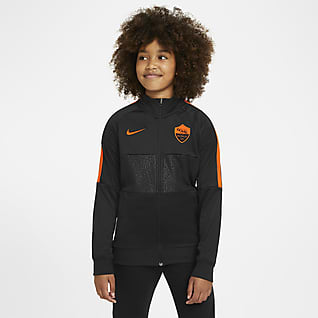 AS Roma Kids' Football Tracksuit Jacket