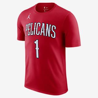 Zion Williamson Pelicans Statement Edition Men's Jordan NBA T-Shirt