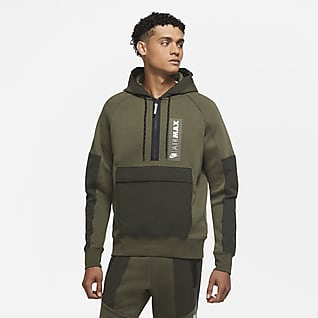 Nike Air Max Prenda superior de tejido Fleece con medio cierre para hombre