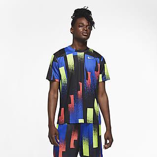 NikeCourt Dri-FIT Men's Printed Tennis Top