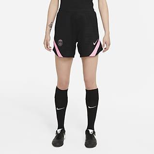 Paris Saint-Germain Strike Uit Nike knit voetbalshorts met Dri-FIT voor dames
