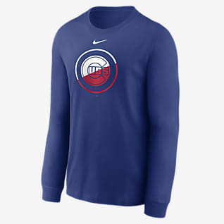 Nike Angle Logo (MLB Chicago Cubs) Men's Long-Sleeve T-Shirt