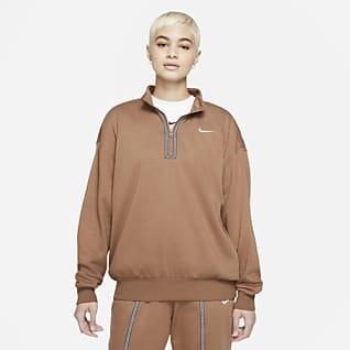 Nike Sportswear Icon Clash Overdel med glidelås i halv lengde til dame