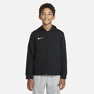 Tottenham Hotspur Club Fleece Tam Boy Fermuarlı Genç Çocuk Kapüşonlu Üstü