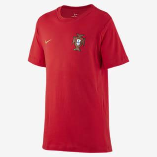 Portugalia T-shirt piłkarski dla dużych dzieci