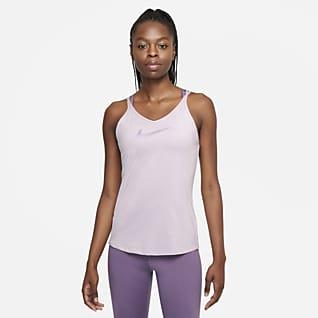 Nike Dri-FIT One Strappy Damska koszulka bez rękawów o dopasowanym kroju
