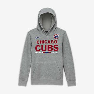 Nike Club Fleece (MLB Chicago Cubs) Sudadera con capucha sin cierre para niño talla grande