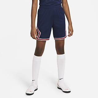 Paris Saint-Germain 2021/22 Stadium Home Big Kids' Soccer Shorts