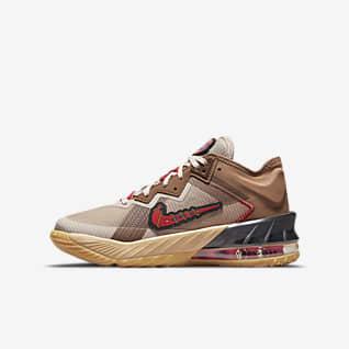 "LeBron 18 Low ""Wile E. vs Roadrunner"" Баскетбольная обувь для школьников"