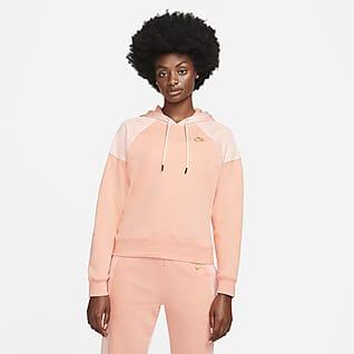 Serena Design Crew Γυναικεία φλις μπλούζα με κουκούλα για τένις