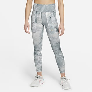 Nike One Leggings con stampa tie-dye - Ragazza