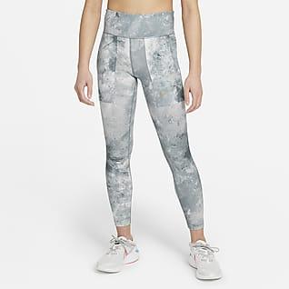 Nike One Older Kids' (Girls') Tie-Dye Printed Leggings