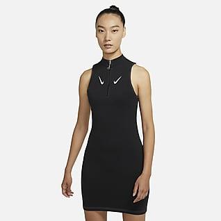 ナイキ スポーツウェア スウッシュ ウィメンズ スリーブレス 1/2ジップ ドレス