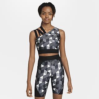 Serena Design Crew Tennis-Oberteil mit Print für Damen