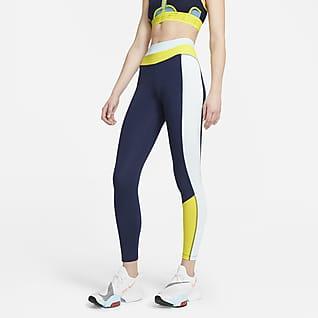 Nike One Leggings de bloques de color de tiro medio de 7/8 para mujer