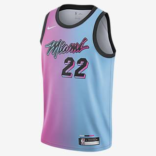 Jimmy Butler Heat City Edition Koszulka dla dużych dzieci Nike NBA Swingman