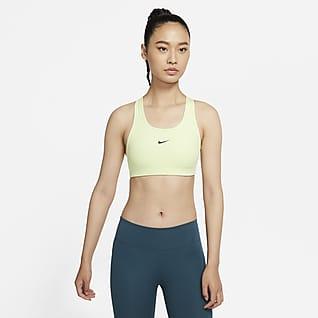 Nike Swoosh 女子中强度支撑一片式衬垫运动内衣