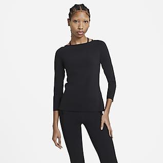 Nike Yoga Luxe Langarmoberteil für Damen